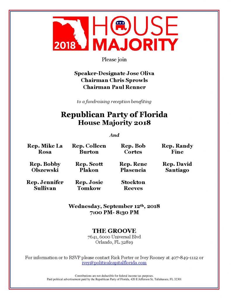 House Republican Majority Fundraiser 9.12.2018