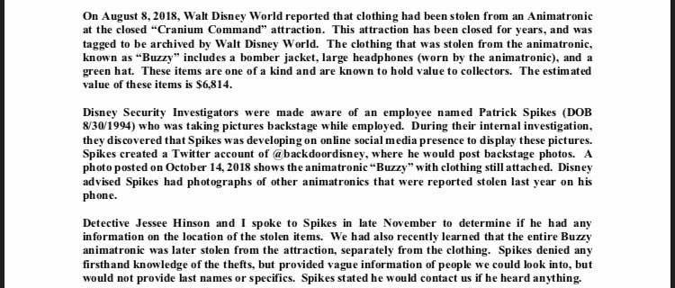 FindBuzzy: Police report appears to confirm Epcot